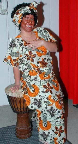 Déguisement africain floral femme