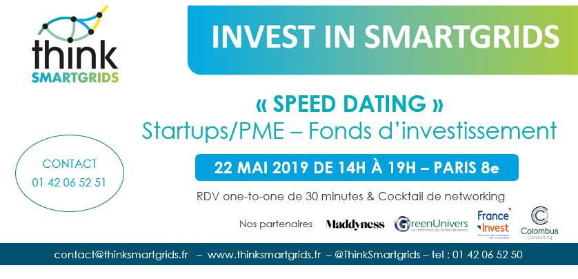 Rencontre 1-to-1 entre startups et PME de l'énergie avec des fonds d'investissement.