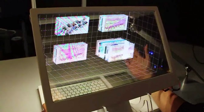Microsoft Research see-through 3D display