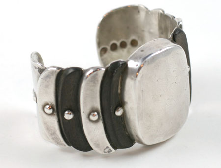 William Spratling wood and silver cuff bracelet c.1931-1946