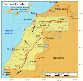 Mapa del Sáhara