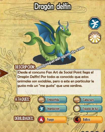 imagen de las caracteristicas del  dragon delfin
