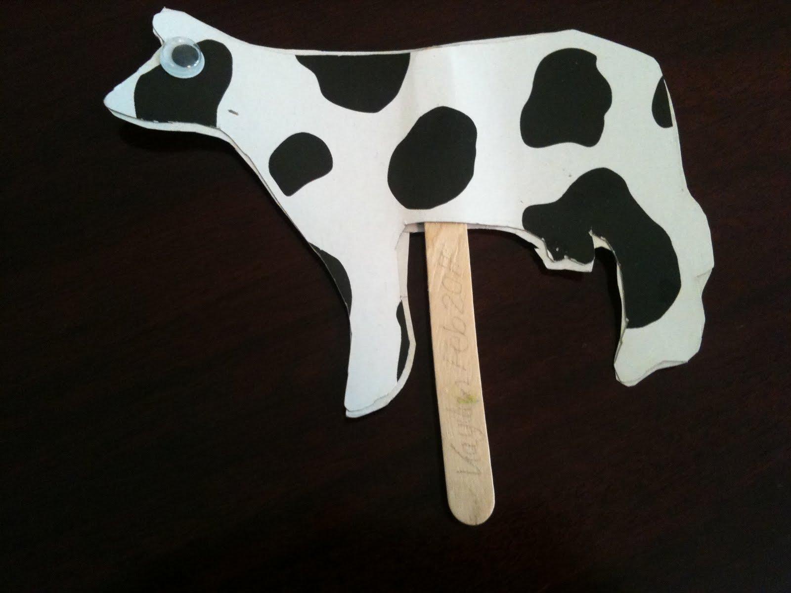 Cow Stick Puppet