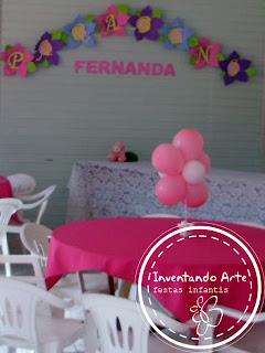 festa infantil ponta grossa casinha bonecas rosa