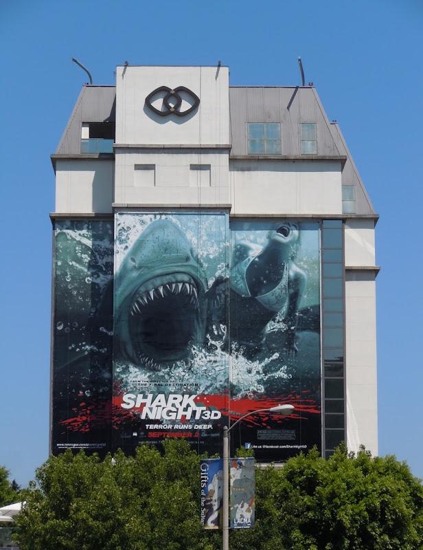 Shark Night 3D film billboard