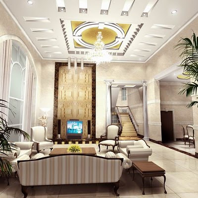 Luxury Interior Design Living Room Of America Style