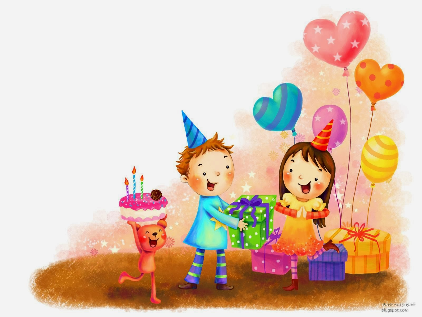 High Quality Cute Happy Birthday Heart Greetings Cards To Wish Birthday To Kids
