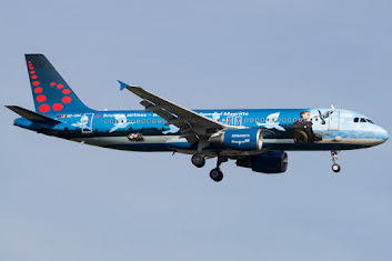 A320 BEL OO-SNC Magritte c/s