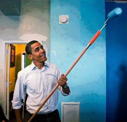 باراك أوباما أراد أن يدهن البيت الأبيض...,و لكن ما فاز بالصفقة ؟؟؟