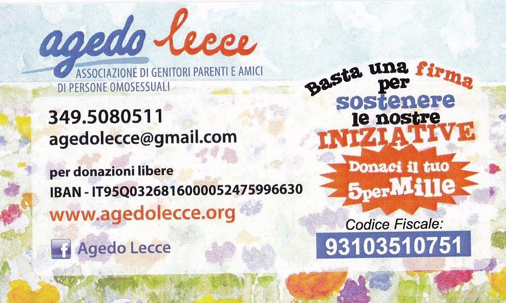 Sostieni Agedo Lecce con il tuo 5xmille!