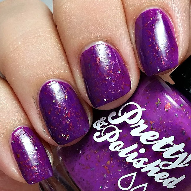swatcher, polish-ranger | Pretty & Polished The Grape Flake swatch