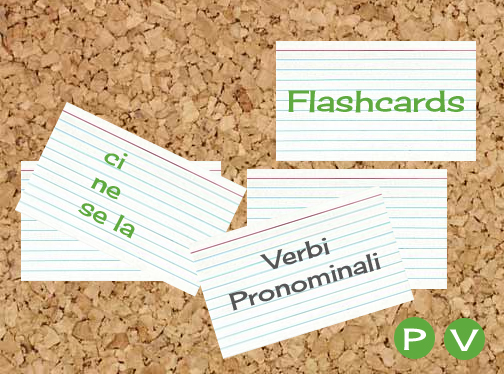 Verbi Pronominali Flashcards by alex for didattichiamo.blogspot.com