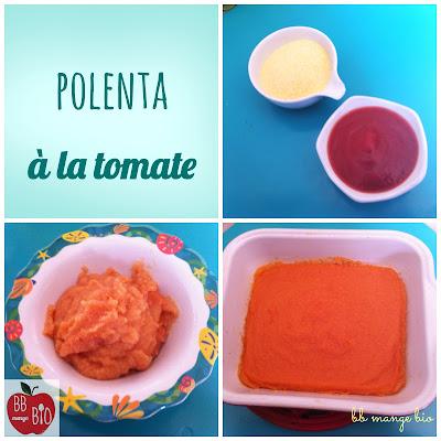 polenta à la sauce tomate : recette bio pour bébé à partir de 1 an proposée par bébé mange bio BB mange bio