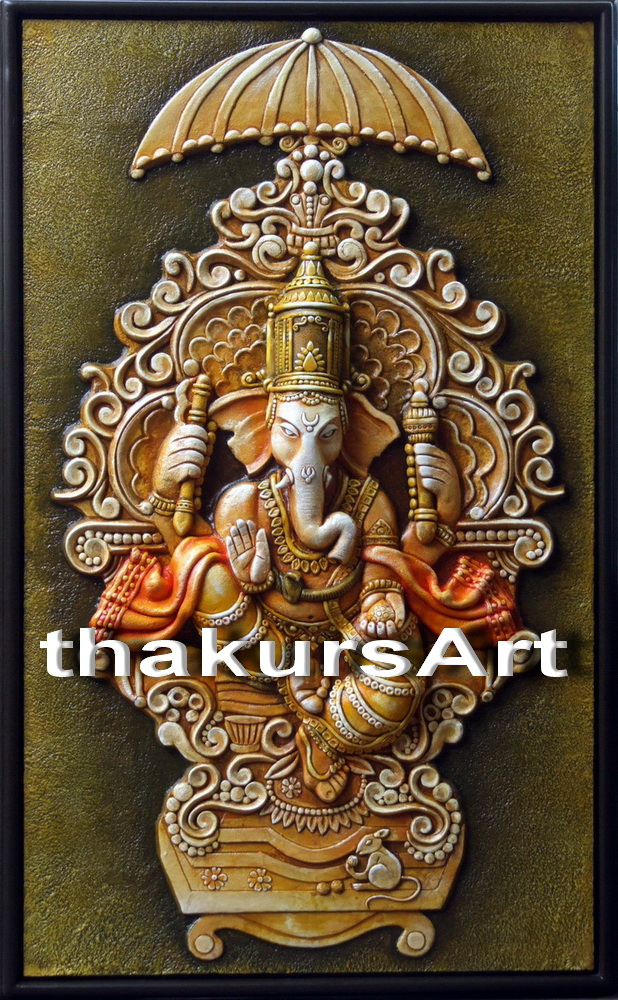 3d creation ganesha ceramic mural for Ceramic mural painting