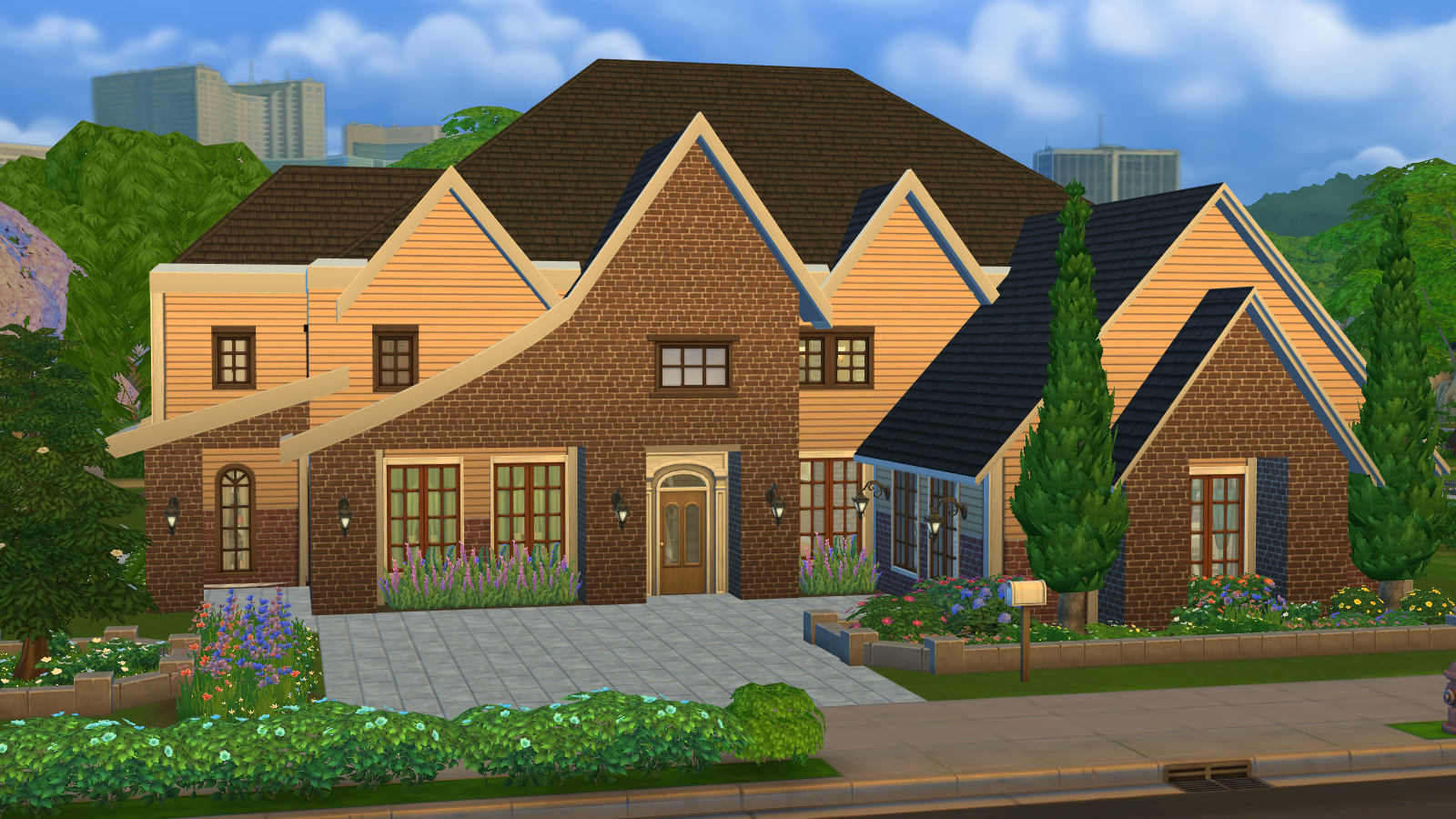 Lacey loves sims suburban dream for Big family house