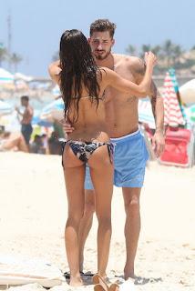 Izabel Goulart – Bikini candids at a Beach in Rio De Janeiro