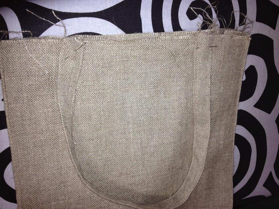 Bolsa rectangular con tela de saco diy - Saco arpillera ...