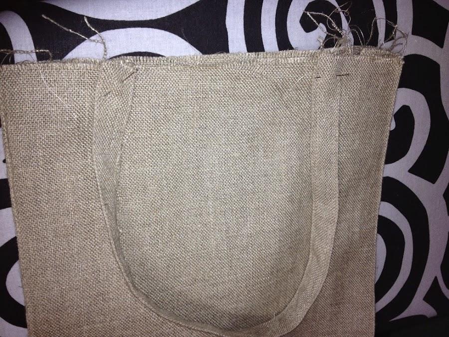 Bolsa rectangular multiusos con tela de saco manualidades - Manualidades con tela de saco ...