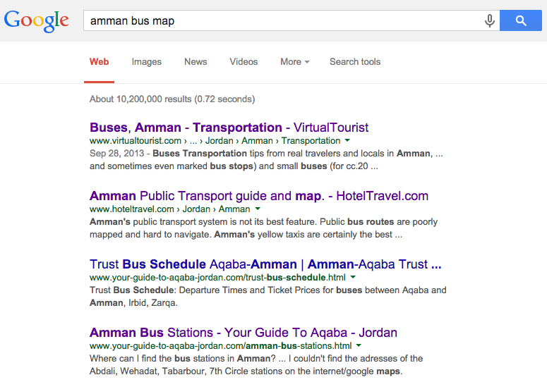 Mapping Amman What Turns Up When You Google Quot Amman Bus Map Quot