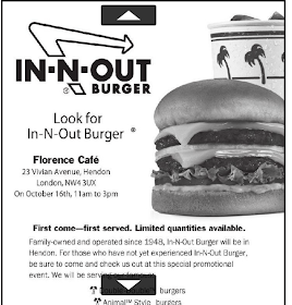 In-N-Out in Hendon - Finchley Times Ad