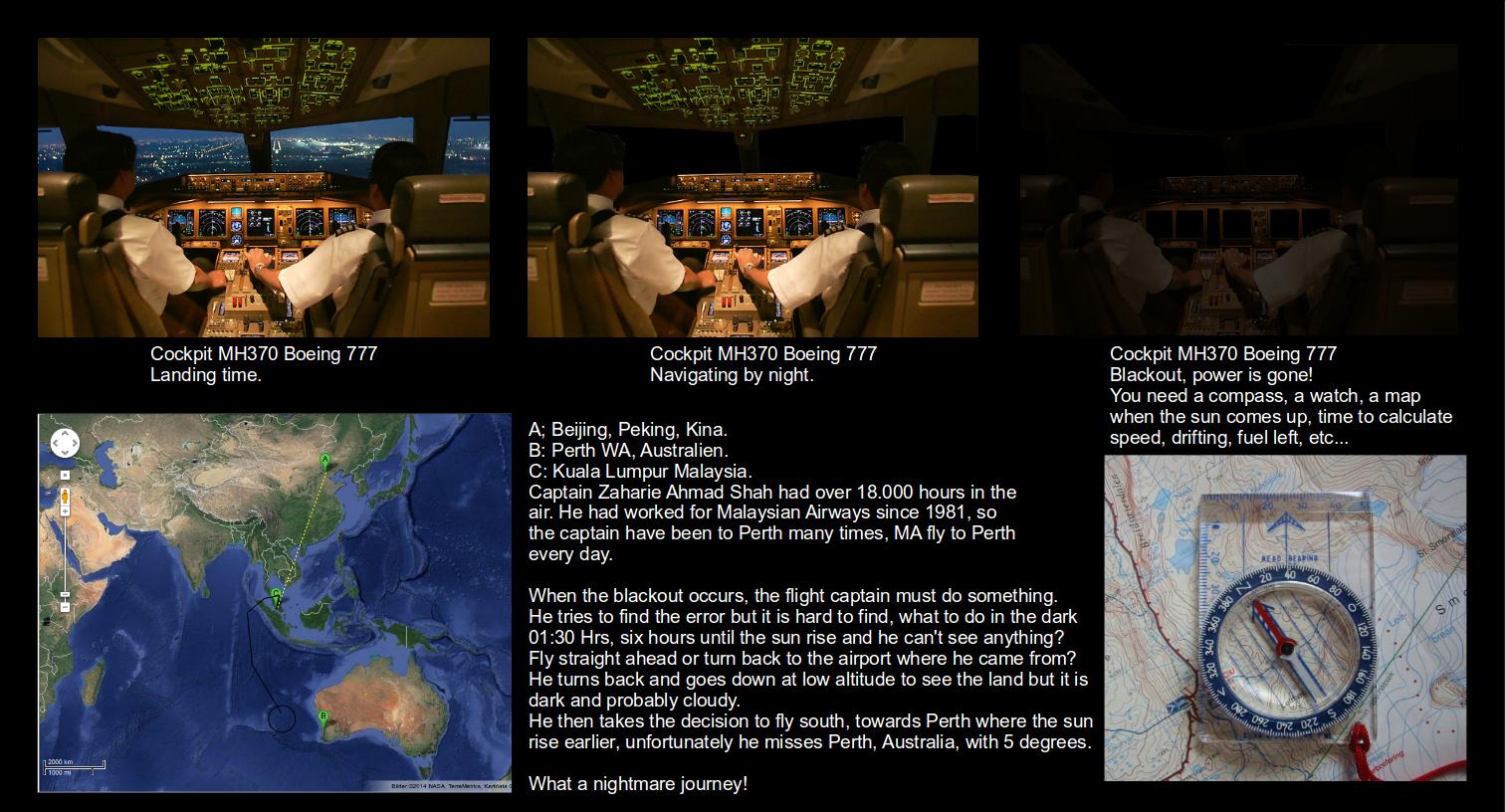 MH370, Boeing 777-200ER, blackout, accident.