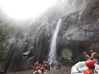 Waterfall at Ayung River-White Water rafting