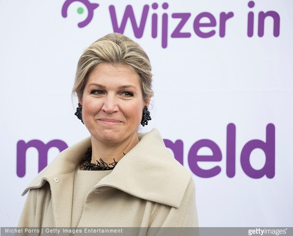 Queen Maxima of The Netherlands kicks of the Week of Money (Week van het Geld) at the OBS West Primary School on March 9, 2015 in Capelle aan den Ijssel, The Netherlands