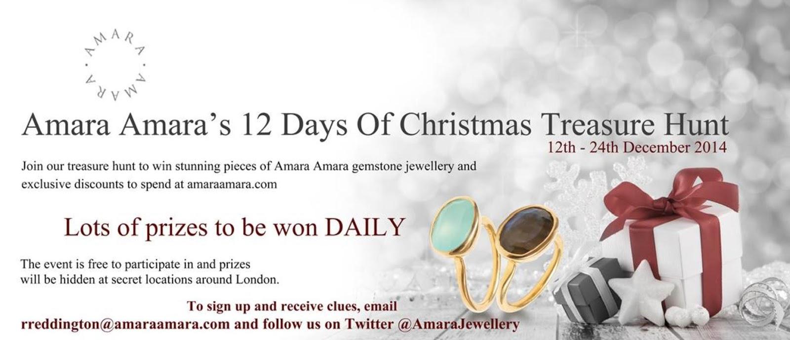 Amara Amara 12 Days of Christmas Treasure Hunt