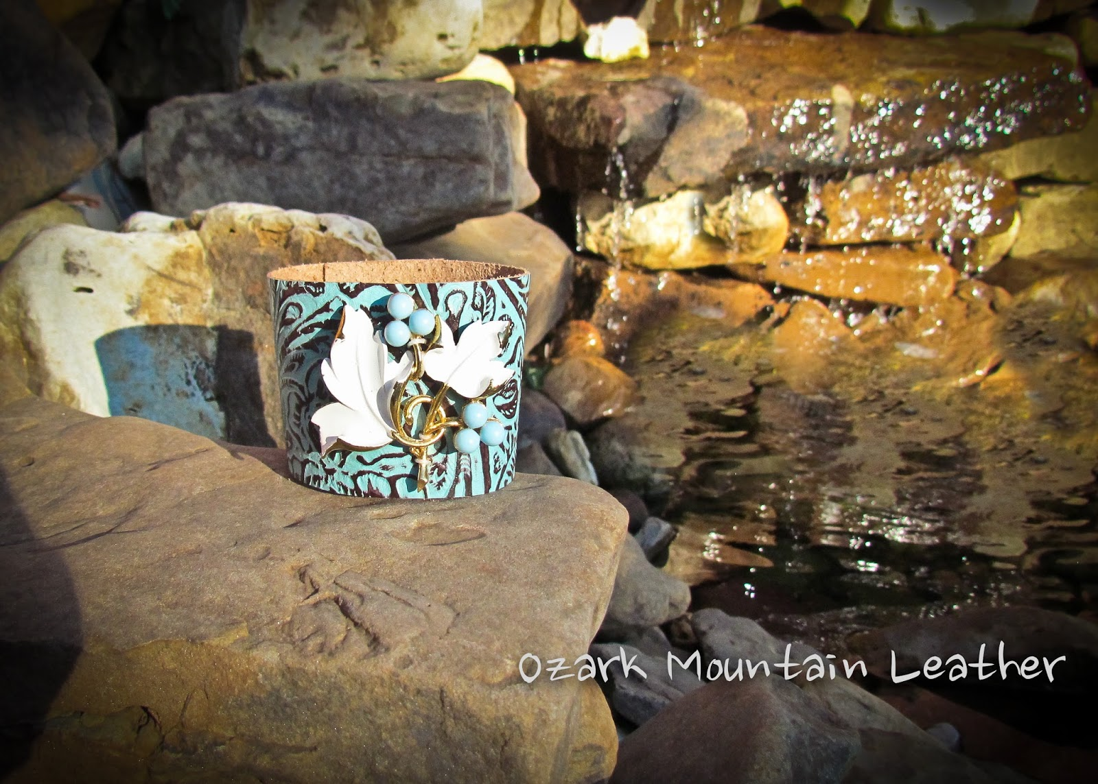 Ozark Mountain Leather Turquoise Anyone