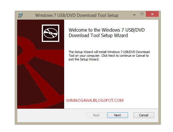 Cara Membuat Bootable Flashdisk Windows 8.1 Dengan Windows 7 USB/DVD Tool