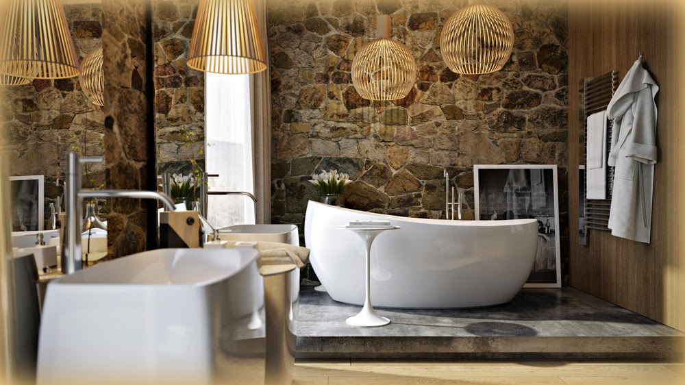Boiserie Bagno Moderno : Boiserie c bagno moderno sofisticato retrò