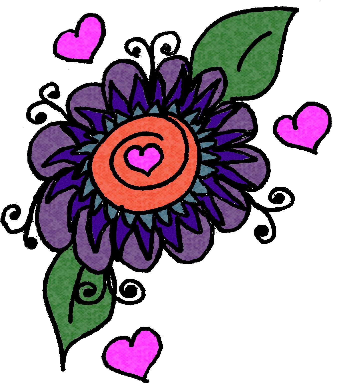 Christian Images In My Treasure Box: Home Drawn Flower Design