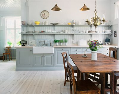 2013 trends for kitchen cabinets colors ideas for home decor for Blue gray kitchen cabinets