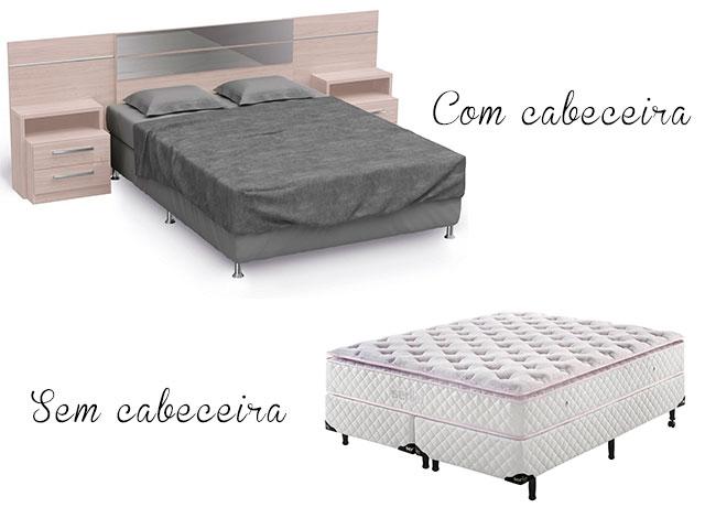 cama com ou sem cabeceira