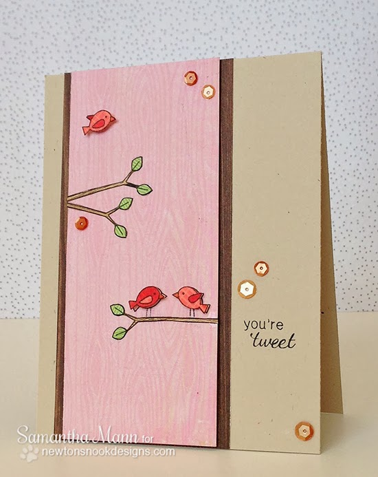 Tweet Talk Bird card by Samantha Mann for Newton's Nook Designs