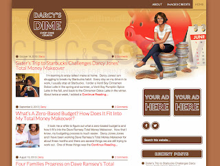 blogger, template, theme, money, dimes, budget, finance, brown, chic