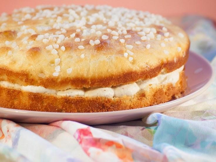 Tarte tropézienne à la crème d'amandes, recette tarte tropézienne