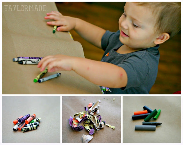 Kids Craft - Halloween Crayon Bats 2