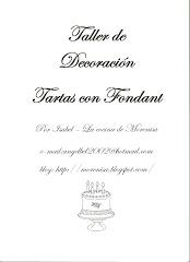 TALLER DE DECORACIÓN DE TARTAS CON FONDANT (CON MORENISA)