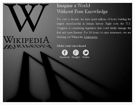 Expression Equals Freedom. Wikipedia. SOPA. PIPA