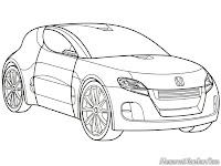 Gambar Mobil Honda Remix Untuk Diwarnai