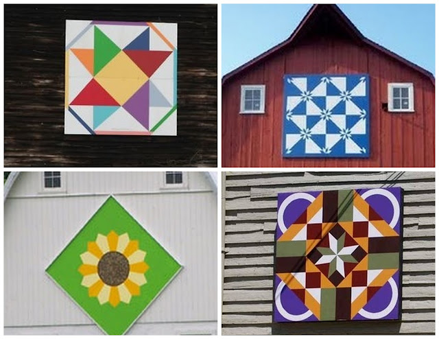The Red Feedsack: Wooden Quilt Square (And A Winner)!