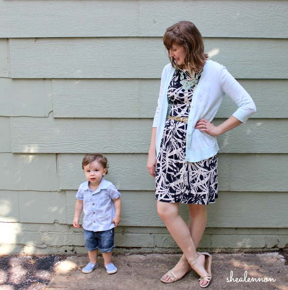mommy and me pastels - blue for toddler boy, mint green for mom | www.shealennon.com