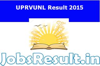 UPRVUNL Result 2016