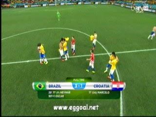 اهداف مبارة البرازيل و كرواتيا 3 - 1