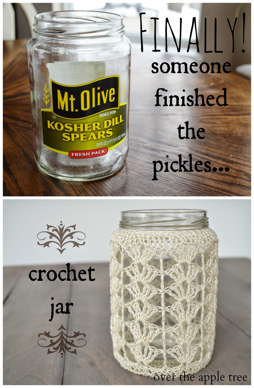 Crochet Jar, Over The Apple Tree