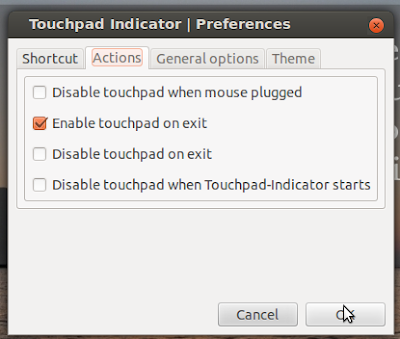 how to use touchpad-indicator
