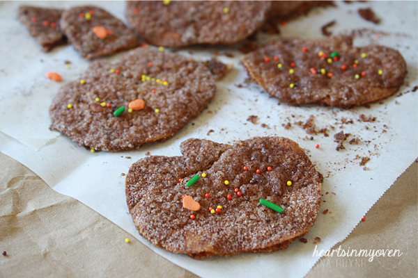 Hearts in My Oven: Pumpkin Pie Spice Tortilla Chips