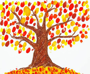 Finger Paint Fall Tree