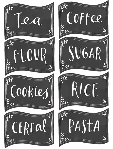 Etiquetas para tarros decorar tu casa es for Tarros de cocina baratos